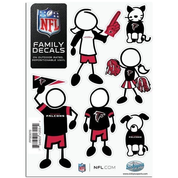 NFL Atlanta Falcons Small Family Decals