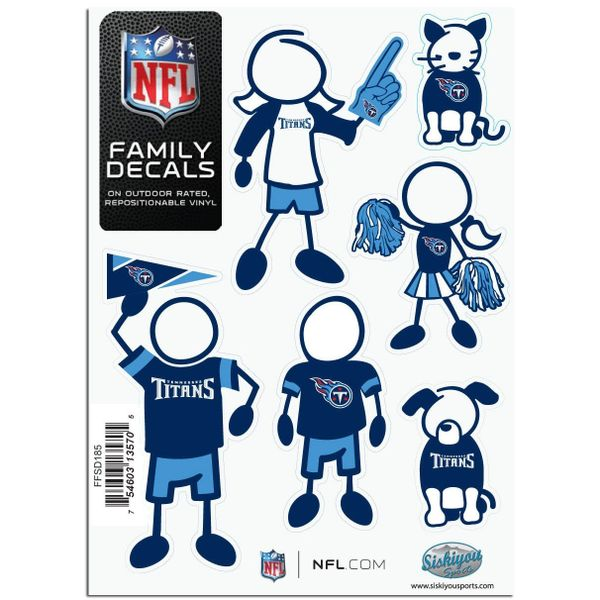 NFL Tennessee Titans Small Family Decals