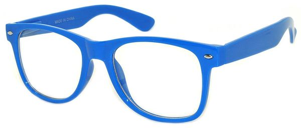Retro Clear Lens Blue - 2 Pair