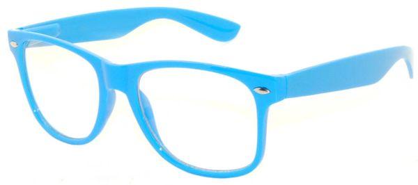 Retro Clear Lens Light Blue - 2 Pair