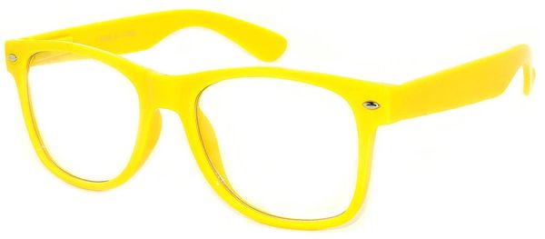 Retro Clear Lens Yellow - 2 Pair