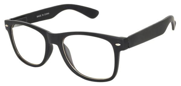 Retro Clear Lens Black Matte - 2 Pair