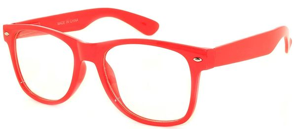 Retro Clear Lens Red - 2 Pair