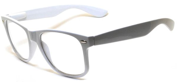 Retro Clear Lens White - 2 Pair