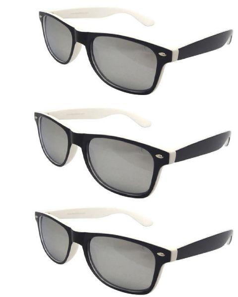 Retro Two-toned Black and White - 3 Pair