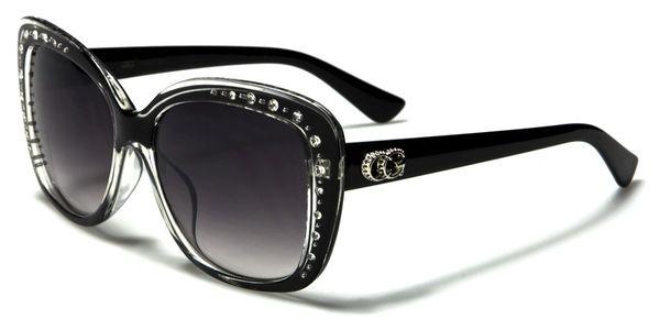 1809 CG Eyewear Rhinestone Black Clear