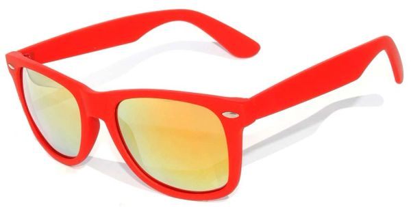 Retro Matte Finish Red with RED Lens