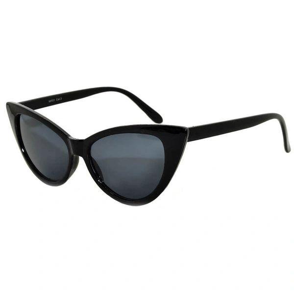 Retro Black Cat Eye Smoke Lens