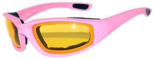 750 Padded Motorcycle Pink Yellow Lens
