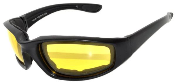 750 Padded Motorcycle Black Yellow Lens