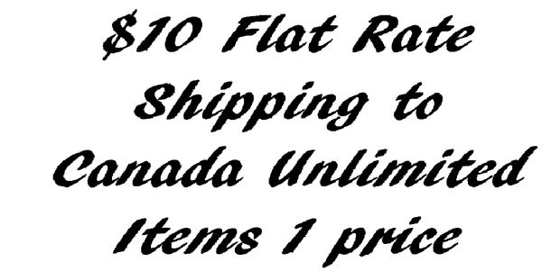 Flat Rate $10 Canada Shipping