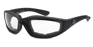 901 Choppers Black Clear Lens
