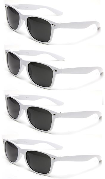 Retro White Smoke Lens – 4 Pair