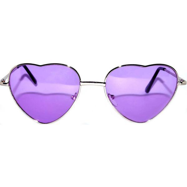 Silver Heart Frame Purple lens