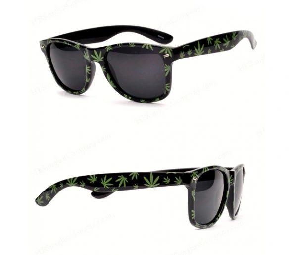 Retro Marijuana Leaf Sunglasses