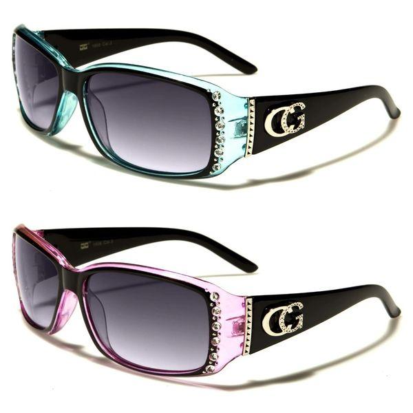1808 Eyewear Rhinestone Black Pink and Black Blue