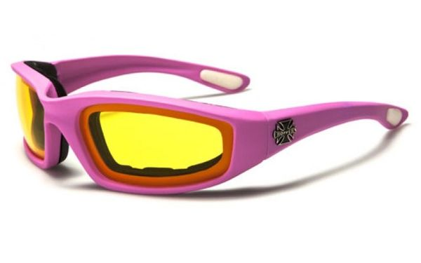 901 Choppers Pink Yellow Lens