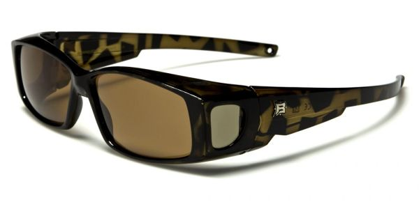 606 Barricade Fit-Over Tortoise Shell Brown Lens