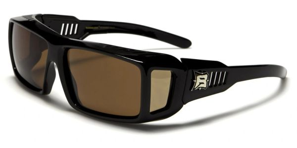 607 Barricade Fit-Over Black Brown Lens