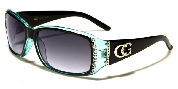 1808 Eyewear Rhinestone Black Blue