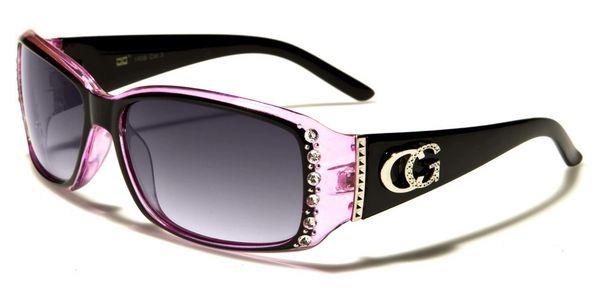 1808 Eyewear Rhinestone Black Pink