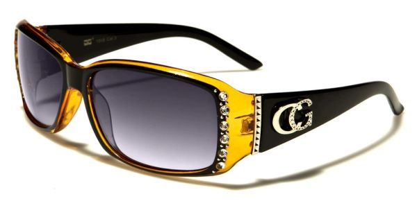 1808 CG Eyewear Rhinestone Black Yellow