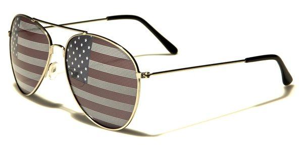 1028 USA Flag Aviator Silver 2 Pack