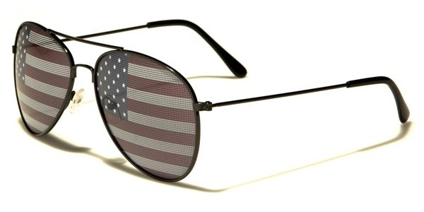 1028 USA Flag Aviator Black 2 Pack