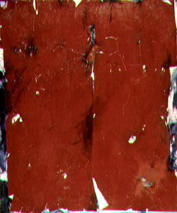 "Paper Painting in Red Tones 1978 paper, acrylic on canvas 72"" x 60"" Matheson Collection - Wilson, ON"