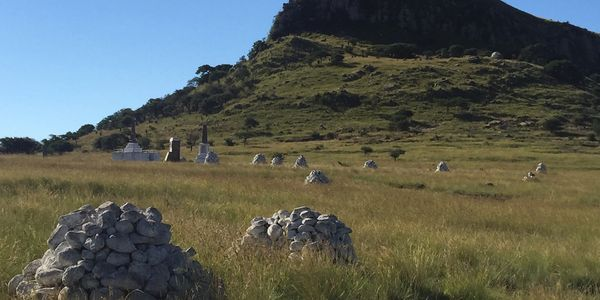 Field filled with rocks in South Africa