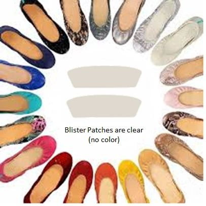 Blister Prevention Patches for the Heel Area - Designed for Ballet Flats (4 patches included)