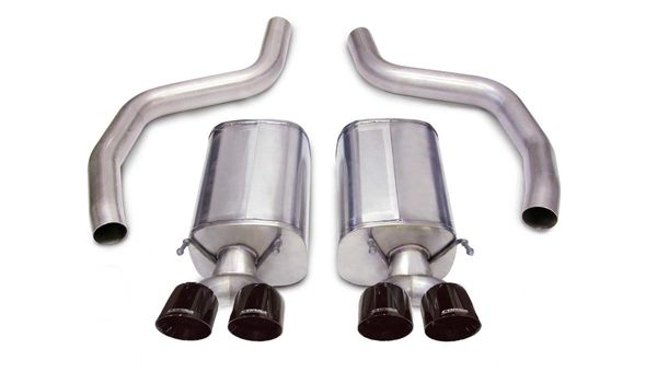 "Z06 Corsa 3"" Cat Back Exhaust 4"" Black Pro Tip"