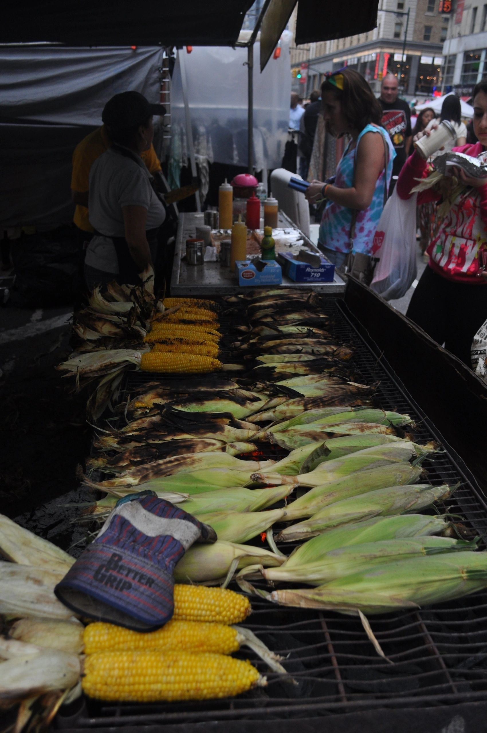 Grilled Corn Times Square New York