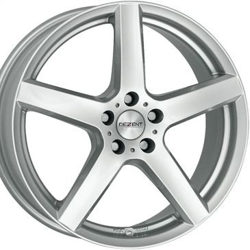 Dezent TY Silver 5 spoke alloy wheel