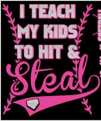 Teach Hit Steal in Pink