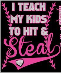Teach Hit Steal in Pink