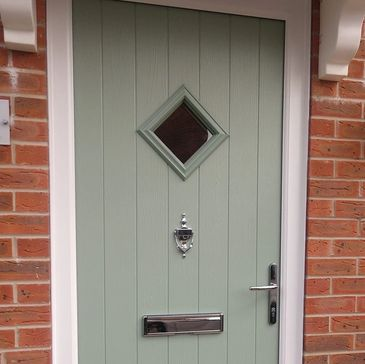 Chartwell Green Solid Core composite door fitted in Warsop by Worksop Composite Doors' installers.