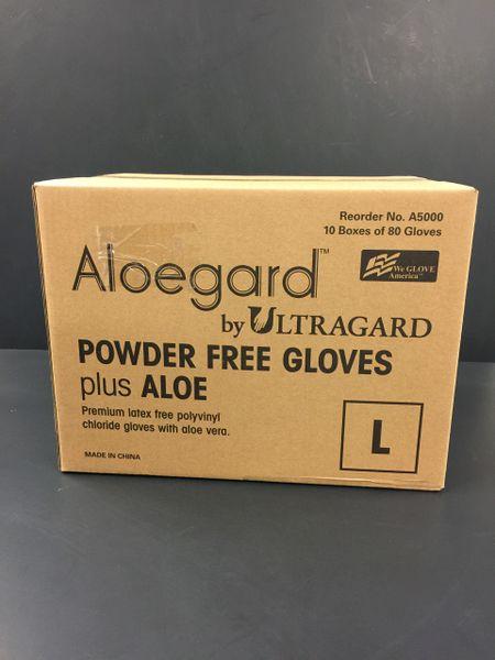 Case of Powder-Free Aloe Vinyl Gloves