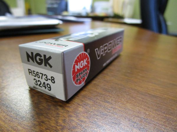 NGK spark plug R5673-8 stock 3249 V-Power Racing