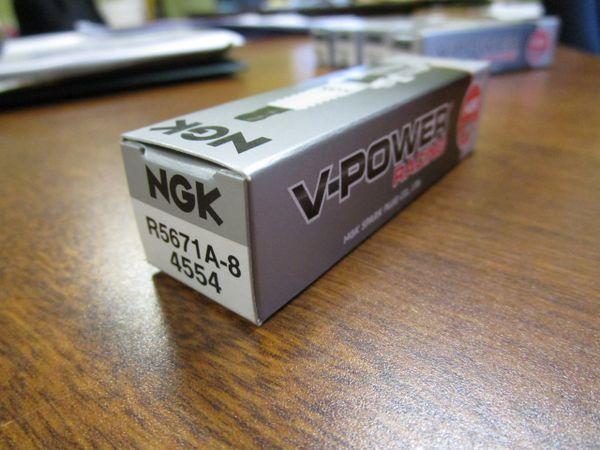 NGK spark plug R5671A8 stock 4554 V-Power Racing