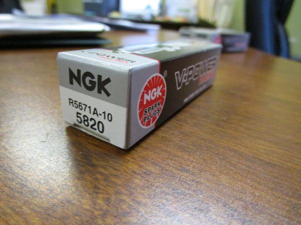 NEW NGK spark plug R5671A10 stock 5820 V-Power Racing