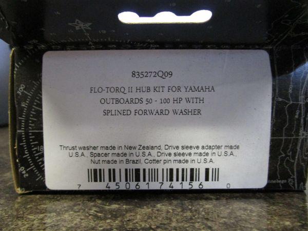 Flo Torq II Hub kit for Yamaha new by Mercury 835272Q09