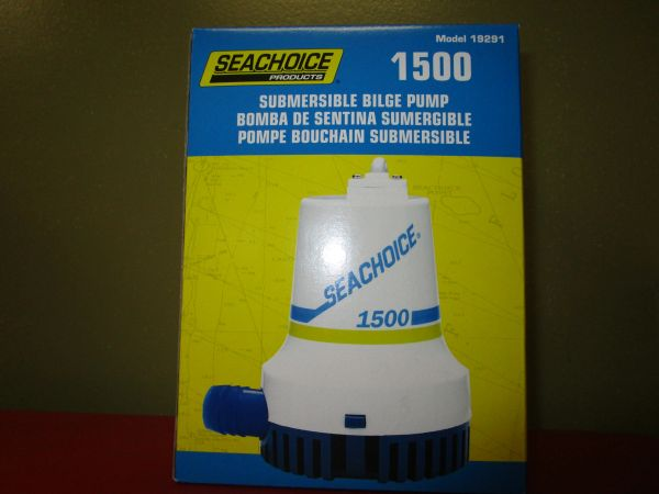 bilge pump subermisble by Seachoice 1500 GPH model # 19291
