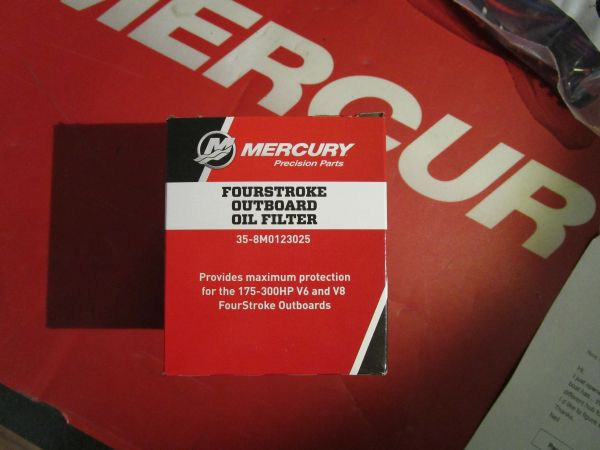 Mercury FourStroke outboard oil filter 35-8M0123025
