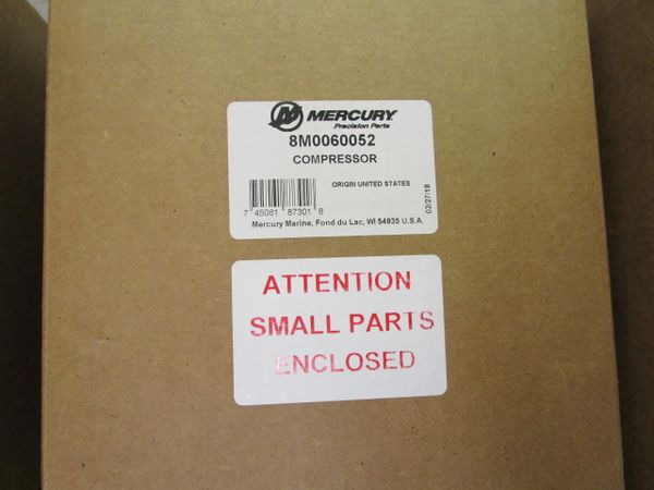 new by Mercury air compressor 8M0060052
