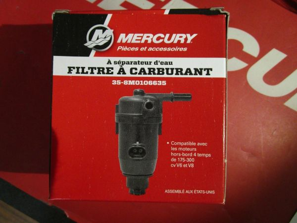 NEW Mercury water separating filter 35-8M0106635 on backorder