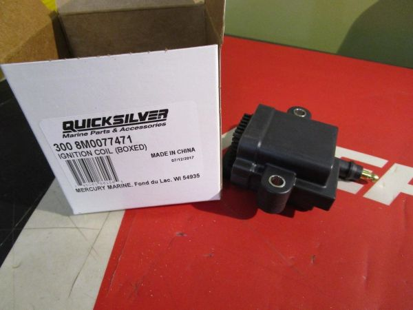 Quicksilver Ignition Coil 300-8M0077471 free ground shipping in the us