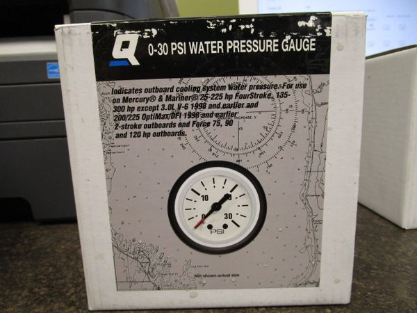 Quicksilver/Mercury 0-30 PSI Water Pressure Gauge Kit