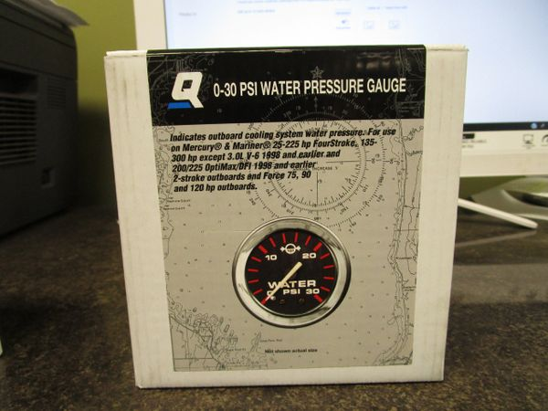 Quicksilver/Mercury 0-30 PSI Water Pressure Gauge