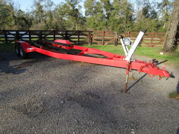 Used 26' steel boat trailer